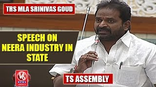 TRS MLA Srinivas Goud Speech On Neera Industry In State | TS Assembly