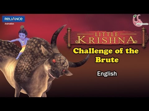LITTLE KRISHNA ENGLISH EPISODE 8 CHALLENGE OF THE BRUTE ANIMATION...