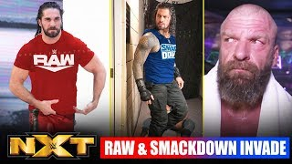 RAW & SMACKDOWN DESTROYS NXT Invasion, Roman Reigns, Seth Rollins, HHH, CM Punk, WWE NXT Highlights