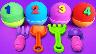 4 Kinetic Sand Ice Cream Cups | Learn Colors LOL Surprise Toys Cars lightning mcqueen Surprise Eggs