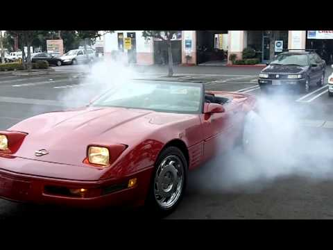 1990 CORVETTE BURN OUT