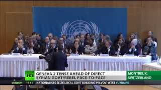 Geneva Tension: (Syrian) warring sides fail to find common  ground 1/23/14