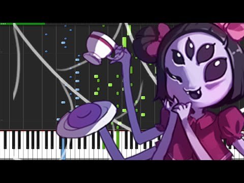 Spider Dance - Undertale [Piano Tutorial] (Synthesia)