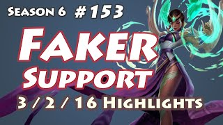 SKT T1 Faker - Karma Support - KR LOL SoloQ Highlights
