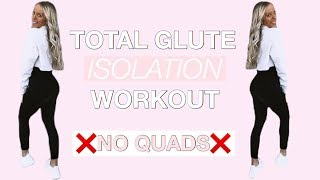 GLUTE ISOLATION WORKOUT| TARGET STUBBORN GLUTES