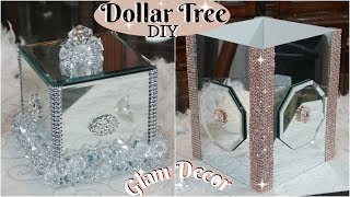 💎DOLLAR TREE DIY | GLAM SILVER AND ROSE GOLD HOME DECOR 2019💎