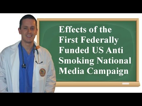 Effects of the First Federally Funded US Anti Smoking National Media Campaign