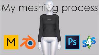 My Meshing Process | Sims 4 | Making CC | Jordutch