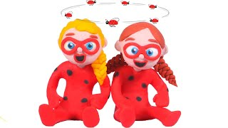 FUNNY KIDS HAVE LADYBU COSTUMES ❤ Play Doh Cartoons For Kids