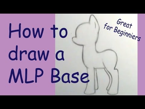 How to draw a My little Pony basic