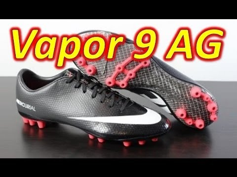 Nike Mercurial Vapor 9 AG Black Pack (Speed Control) - Unboxing + On Feet