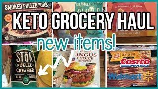 NEW ITEMS! | Keto Grocery Haul | Walmart & Costco