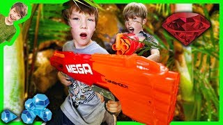 Nerf Battle - Kids Vs Adults Capture the Jewel