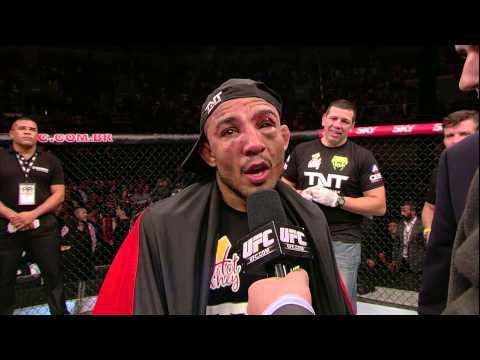 UFC 179: Chad Mendes and Jose Aldo Octagon Interviews
