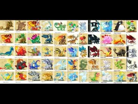 Todos los dragones de dragon city (en la descripcion combinaciones)