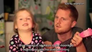 Bé gái cực dễ thương hát Karaoke cùng Bố