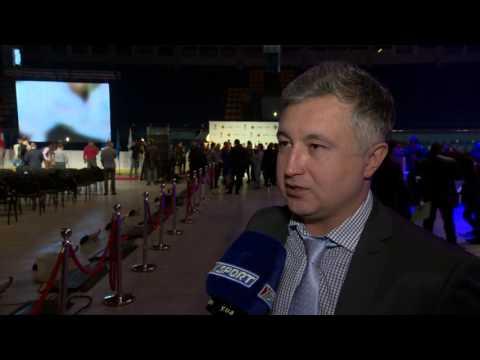 Главный тренер сборной Украины по хоккею Александр Савицкий - о презентации чемпионата мира в Киеве
