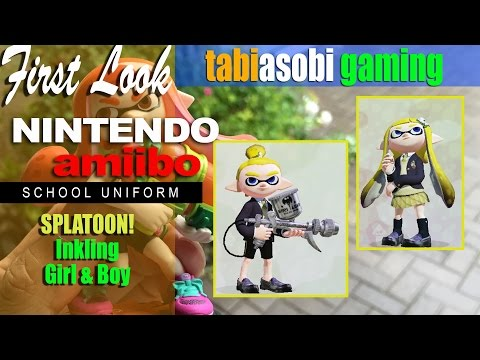 Amiibo Inkling Girl & Boy School Clothes
