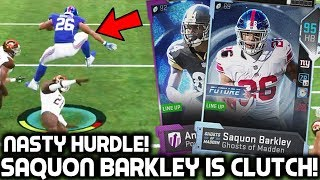 SAQUON BARKLEY IS CLUTCH! NASTY HURDLE! Madden 19 Ultimate Team