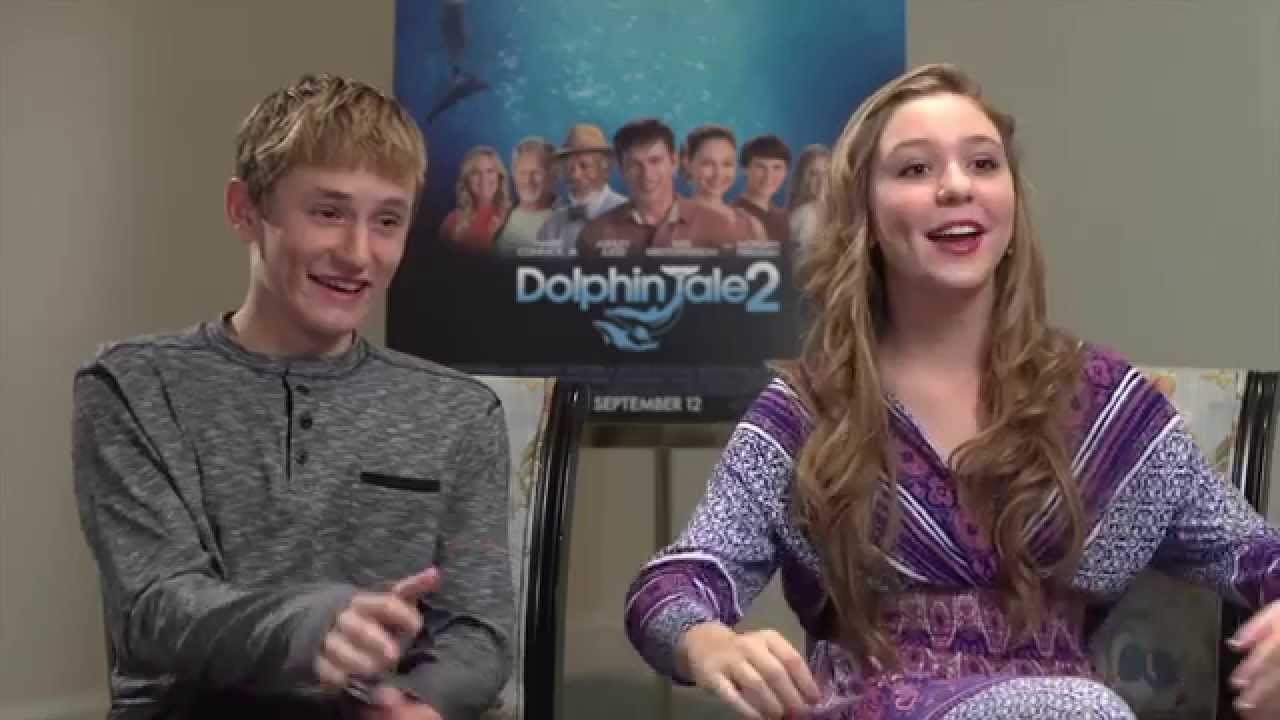 DOLPHIN TALE 2 Interview - Nathan Gamble & Cozi ...