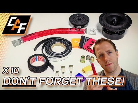 Installing Car Audio? 10 CHEAP things to have FOR EVERY BUILD!