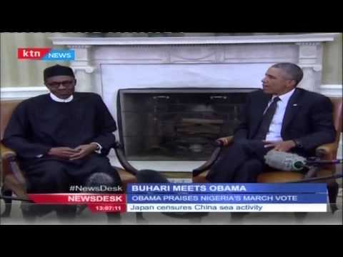 Obama Welcomes Nigeria's Freshly Elected President Muhammadu Buhari To The White House,
