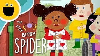 The Itsy Bitsy Spider / La Araña Pequeñita   Nursery Rhyme Remix (Sesame Studios)