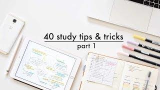 40 Study Tips, Tricks & Hacks // Part. 1 REMAKE