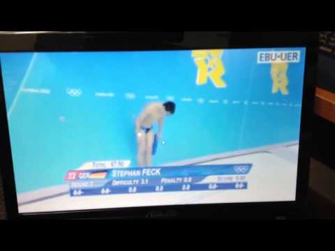 German diver fail olympics 2012