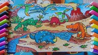 vẽ khủng long bạo chúa - khủng long ba sừng