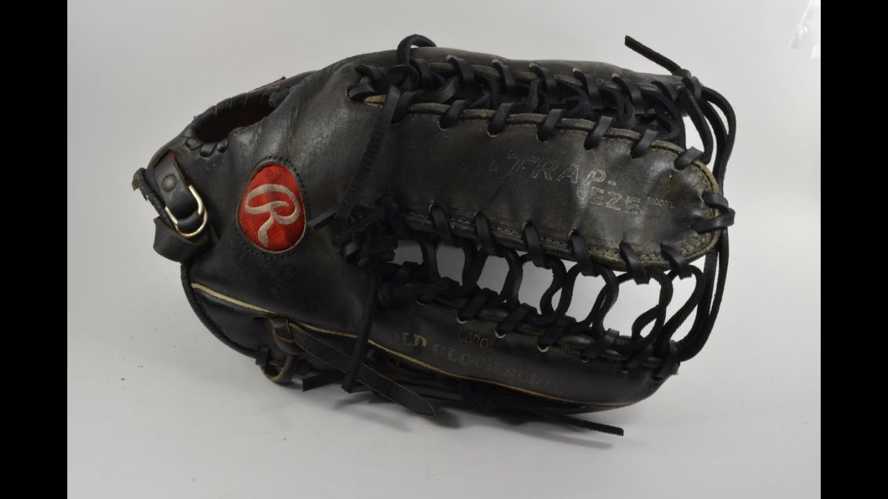 Baseball Glove Repair : Rawlings heart of the hide trapeze baseball glove relace