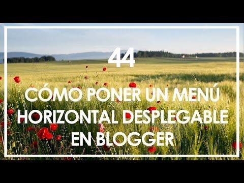 Cómo añadir un menú desplegable html en Blogger