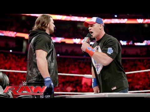 John Cena and AJ Styles make their WrestleMania-worthy dream match official: Raw, June 13, 2016