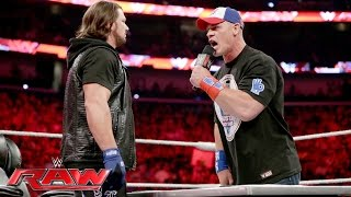 John Cena and AJ Styles make their WrestleMania-worthy dream match official: Raw, June 13, 2016