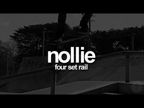 Nollie - Four Set Rail: First-Person Skateboarding.