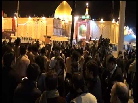 Najaf - Matami Juloos Karwane Azadari group in front of Roza...