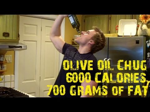 One Man. One Bottle of Olive Oil (6000+ Calories) *VIEWER DISCRETION ADVISED* | Furious Pete