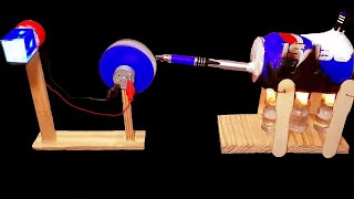 How to make Steam Powered Electricity Generator - DIY Cool Science Project