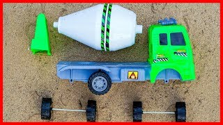 Construction Vehicles Toy Assembly Concrete Mixer Cars Videos For Kids