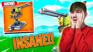 """🔴NEW """"MOUNTED TURRET"""" Gameplay // Pro Console Player FAMILY FRIENDLY VBUCKS GIVEAWAY LIVE!!"""