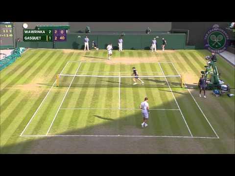 2015 Day 9 Highlights, Stanislas Wawrinka vs Richard Gasquet quarter-final