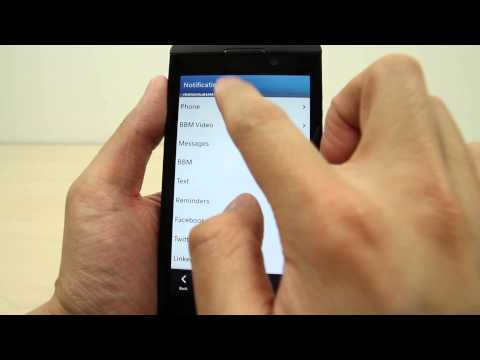 How to change the ringtone on BlackBerry Z10