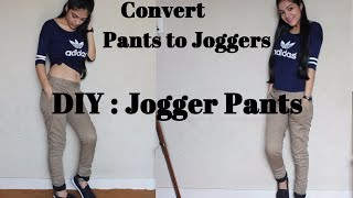 DIY: Recycle Pants to Joggers | No Sew Fashion Hack | Style on a budget