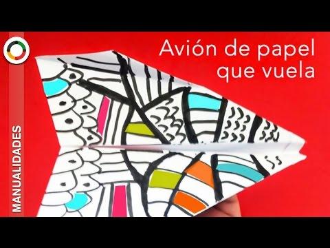 Cómo hacer *** AVIÓN DE PAPEL QUE VUELE BIEN ***Origami FÁCIL
