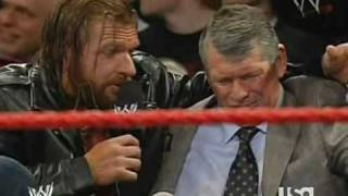 "Triple H Helps Vince ""Looney"" McMahon"