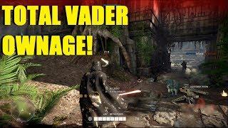Star Wars Battlefront 2 - Total Darth Vader ownage! | Youtube please let me post this vid!