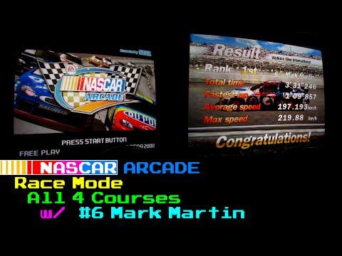 [NASCAR Arcade] Race Mode Playthrough - All 4 Courses [Real Arcade]