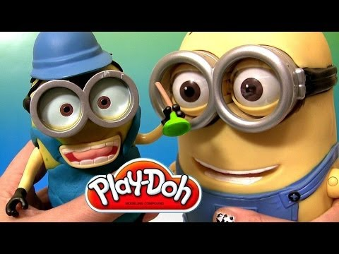 Build A Minion Play Doh Minion Mayhem Universal Studios Despicable Me Talking Action Figure Dave video