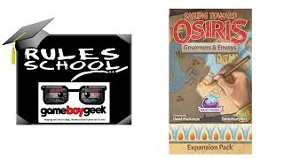 How to Play Sailing Toward Osiris: Envoys & Governors( Rules School) With the Game Boy Geek