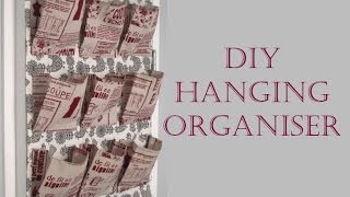 {Step by Step Sewing} DIY Fabric Hanging Organiser